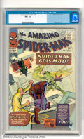 """Silver Age (1956-1969):Superhero, The Amazing Spider-Man #24 (Marvel, 1965). Spider-Man """"Goes Mad"""" in this issue with cover and story art by Steve Ditko. Top-..."""
