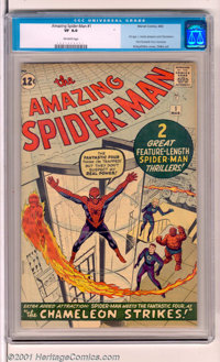 The Amazing Spider-Man #1 (Marvel, 1963). After a spectacular showing in Amazing Fantasy #15, Spider-Man gets his own...