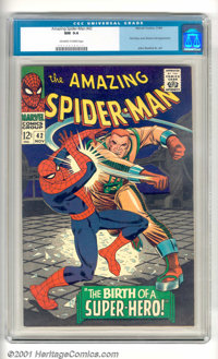 "The Amazing Spider-Man #42 (Marvel, 1966). In this issue, Spidey stars in ""The Birth of a Super-Hero!"" Key hig..."