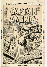 Jack Kirby and Syd Shores - Original Cover Art for Captain America #108 (Marvel, 1968). An unbeatable combination - Jack...