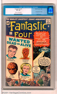 "Fantastic Four #7 (Marvel, 1962). An early issue of ""The World's Greatest Comic Magazine"" from the legendary t..."