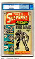 Silver Age (1956-1969):Superhero, Tales of Suspense #39 (Marvel, 1963). Key Silver Age issue featuresthe origin and first appearance of the Invincible Iron M...