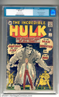 Silver Age (1956-1969):Superhero, The Incredible Hulk #1 (Marvel, 1962). A popular Marvel key, the Hulk debuts in his own series. This is a moderately rough c...