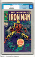Silver Age (1956-1969):Superhero, Iron Man #1 (Marvel, 1968). Big premiere issue stars the Invincible Iron Man in his own title with story continued from Ir...