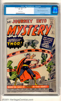 """Silver Age (1956-1969):Superhero, Journey into Mystery #83 (Marvel, 1962). The origin and first appearance of The Mighty Thor, """"The Most Exciting Superhero of..."""