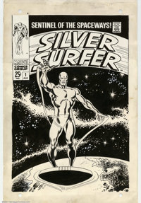 John Buscema and Joe Sinnott - Original Cover Art for Silver Surfer #1 (Marvel, 1968). Heritage Comics Auctions is very...