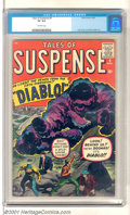 "Silver Age (1956-1969):Horror, Tales of Suspense #9 (Marvel, 1960). He Lives!! The Demon from theFifth Dimension!! ""Diablo!"" High-grade pre-hero issue has..."