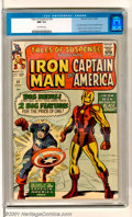 Silver Age (1956-1969):Superhero, Tales of Suspense #59 (Marvel, 1964). Captain America's first solostory of the Silver Age, as he joins Iron Man in this cla...