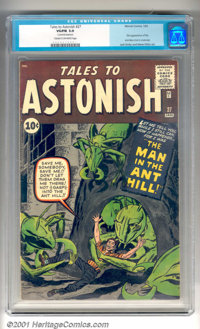 "Tales to Astonish #27 (Marvel, 1962). The first appearance of Henry Pym (before he became Ant-Man) as ""The Man in t..."