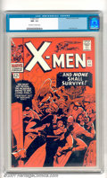 """Silver Age (1956-1969):Superhero, X-Men #17 (Marvel, 1966). This book has a striking deep blood-red cover, great gloss, no """"Marvel chipping"""" and superb overal..."""