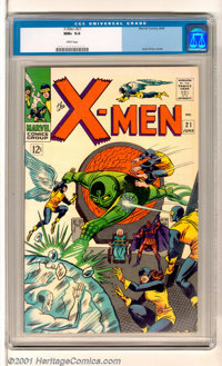 X-Men #21 (Marvel, 1966). Stunning copy of this issue has rich colors, incredible gloss and fully fresh white cover and...