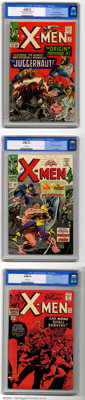 X-Men Silver Age Group (Marvel, 1965-67). Three high-grade books include issues #12 CGC VF/NM 9.0 Cream to off-white pag...