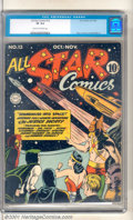 "Golden Age (1938-1955):Superhero, All-Star Comics #13 (DC, 1942). The Justice Society is ""Shanghaied into Space"" in this classic issue of a key Golden Age tit..."