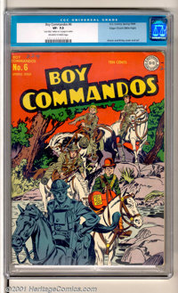 Boy Commandos #6 (DC, 1944). A great Simon & Kirby cover highlights this WWII classic. On the front cover, there...