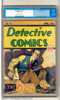 Golden Age (1938-1955):Crime, Detective Comics #14 (DC, 1938). Rare pre-hero issue is extremely attractive and presentable. Moderate spine wear, but overa...