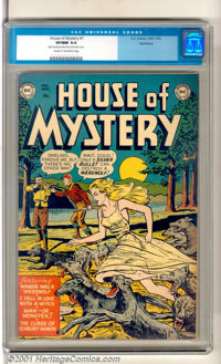 """House of Mystery #1 Northford pedigree (DC, 1952). DC's first horror comic features the cover story """"Wanda Was a We..."""