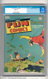More Fun Comics #100 (DC, 1944). This title is very scarce in any grade, so a high-grade copy like this is a real treat...