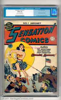 Sensation Comics #1 (DC, 1942). A key book from the Golden Age of Comics! This highly desirable issue features the first...