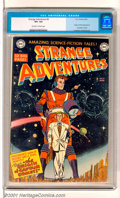 "Golden Age (1938-1955):Horror, Strange Adventures #9 (DC, 1951). Key issue features the origin and first appearance of Captain Comet (""Tomorrow's Man of De..."