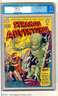 "Strange Adventures #10 White Mountain pedigree (DC, 1951). Great book featuring ""Amazing Science-Fiction Tales""..."