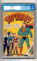 Superboy #1 (DC, 1949). The adventures of Superman when he was a boy! A very attractive copy of this desirable book. The...