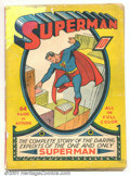 Golden Age (1938-1955):Superhero, Superman #1 (DC, 1939). This Golden-Age key was the first time any comic book was devoted to a single character, a radical i...