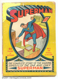 Superman #1 (DC, 1939). This Golden-Age key was the first time any comic book was devoted to a single character, a radic...