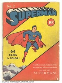 Superman #2 (DC, 1939). The second issue of this iconic title has scripts by Jerry Siegel and artwork by Joe Shuster. Th...