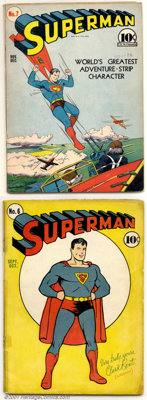 Superman #6-8 Group (DC, 1940). Three consecutive early issues of Superman, all in GD, except #7, which is GD+. All comp...