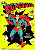 Golden Age (1938-1955):Superhero, Superman Early Low-Grade Group (DC, 1941-44). Lot of five early Superman issues, all in low grade. Includes: #9 PR/FR, spin... (Total: 5 Comic Books Item)