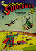 Golden Age (1938-1955):Superhero, Superman Group (DC, 1941- 45). A lot of four excellent low-grade issues of Superman, including: #10 VG/FN, appears FN, but h... (Total: 4 Comic Books Item)