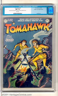 "Tomahawk #1 Mile High pedigree (DC, 1950). Debut issue with ""Brand-New Adventures of America's Favorite Frontier He..."