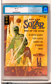 Doctor Solar #1 Massachusetts (Gold Key, 1962). A true beauty featuring the origin and first appearance of Dr. Solar (th...