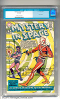 Silver Age (1956-1969):Superhero, Mystery in Space #75 (DC, 1962). A landmark issue of this popular series, featuring a Justice League cross-over. Very minor ...