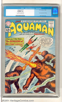 Aquaman #1 (DC, 1962). The King of the Seven Seas makes a splash in his own title with art by Nick Cardy. High-grade cop...