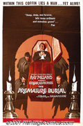 "Movie Posters:Horror, The Premature Burial (American-International, 1962) One-Sheet (27"" X 41""). This Roger Corman directed adaptation of an Edgar..."