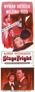 """Movie Posters:Drama, Stage Fright (Warner Brothers, 1950) Insert (14"""" X 36""""). Marlene Dietrich heads the cast in this Alfred Hitchcock film of mu..."""