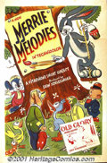 """Movie Posters:Animated, Merrie Melodies, Stock 1941-1942 (Warner Brothers-Vitaphone)One-Sheet (27"""" X 41""""). This fantastic one sheet captures Bugs B..."""
