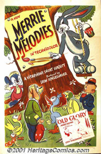 """Merrie Melodies, Stock 1941-1942 (Warner Brothers-Vitaphone) One-Sheet (27"""" X 41""""). This fantastic one sheet c..."""