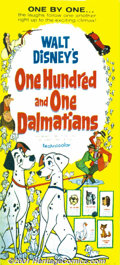 "Movie Posters:Animated, One Hundred and One Dalmatians (Buena Vista, 1961) Three-Sheet (41""X 81""). Now regarded as a true Disney classic, ""101 Dalm..."