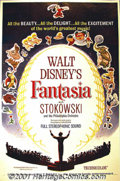 "Movie Posters:Animated, Fantasia (Buena Vista, R-1963) One-Sheet (27"" X 41""). Originallyreleased in 1940, Walt Disney's artistic masterpiece was ha..."