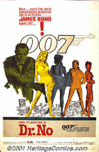 """Dr. No (United Artists, 1962) One-Sheet (27"""" X 41""""). With the words, """"The name is Bond, James Bond!""""..."""