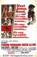 "Movie Posters:Action, From Russia With Love (United Artists, 1963) One-Sheet (27"" X 41""). Style A. Ian Fleming's James Bond set the standard for ""..."
