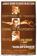 "Movie Posters:Action, Goldfinger (United Artists, 1964) One-Sheet (27"" X 41""). Bond must stop the title character before he can contaminate the Un..."