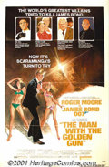 "Movie Posters:Action, The Man With Golden Gun (United Artists, 1974) One-Sheet (27"" X 41"") Style B. Roger Moore inherited the role of James Bond w..."