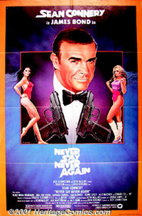 """Never Say Never Again (Warner Brothers, 1983) One-Sheet (27"""" X 41""""). Sean Connery returns as James Bond after..."""