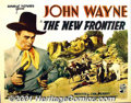 "Movie Posters:Western, New Frontier (Republic, 1935) Display/Half Sheet (22"" X 28""). Thesecond feature in the long running John Wayne/Republic Pic..."