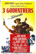 "Movie Posters:Western, Three Godfathers (MGM, 1948) One-Sheet (27"" X 41""). John Forddirected John Wayne in this version of the Peter Kyne story wh..."
