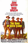 "Movie Posters:Western, The Sons of Katie Elder (Paramount, 1965) One-Sheet (27"" X 41""). John Wayne and Dean Martin return from ""Rio Bravo"" with gun..."