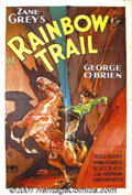 "Movie Posters:Western, Rainbow Trail (Fox, 1932) One-Sheet (27"" X 41""). George O'Brienbegan his career in the early twenties playing a variety of ..."